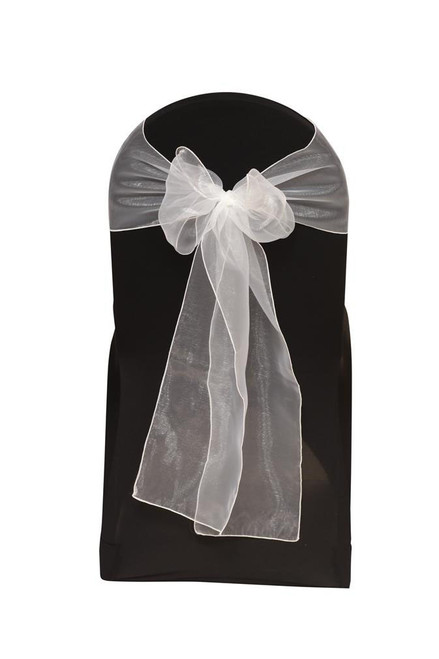 Organza Sashes White (Pack of 10)