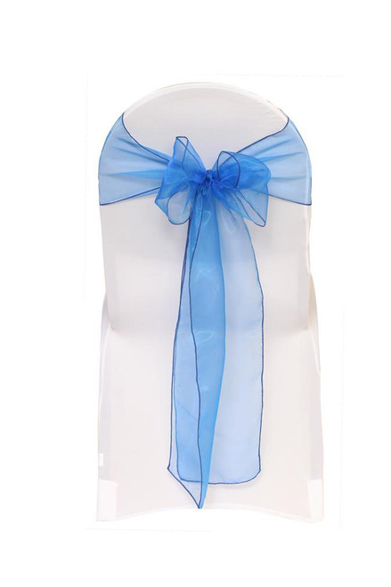 Organza Sashes Royal Blue (Pack of 10)