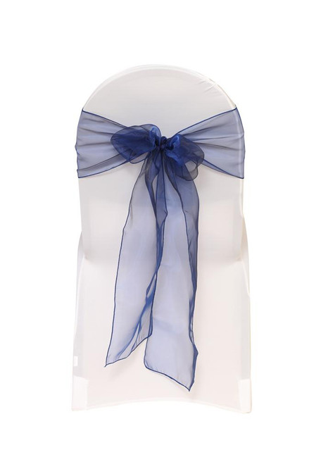 Organza Sashes Navy Blue (Pack of 10)