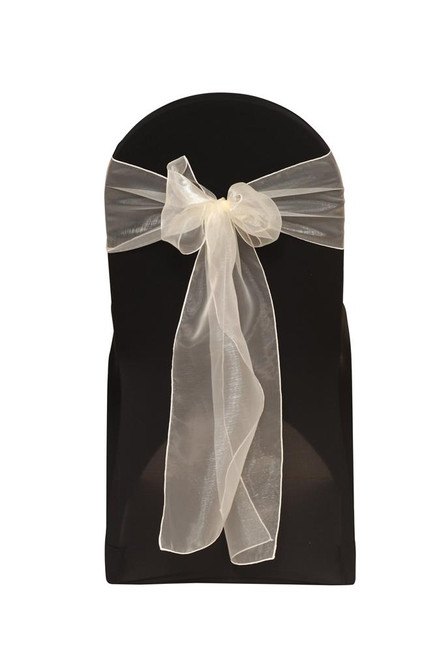 Organza Sashes Ivory (Pack of 10)
