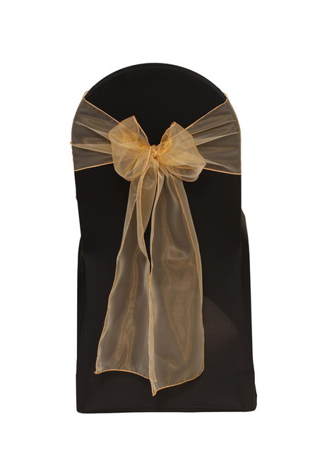 Organza Sashes Gold (Pack of 10)