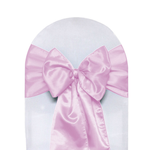 Satin Sashes Pink (Pack of 10)