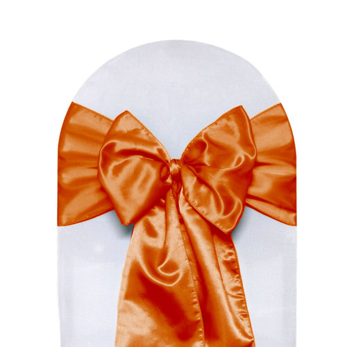 Satin Sashes Orange