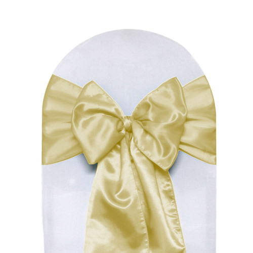 Satin Sashes Champagne (Pack of 10)