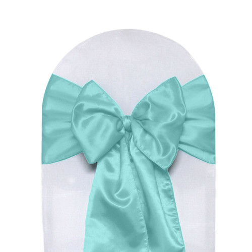 Satin Sashes Turquoise (Pack of 10)