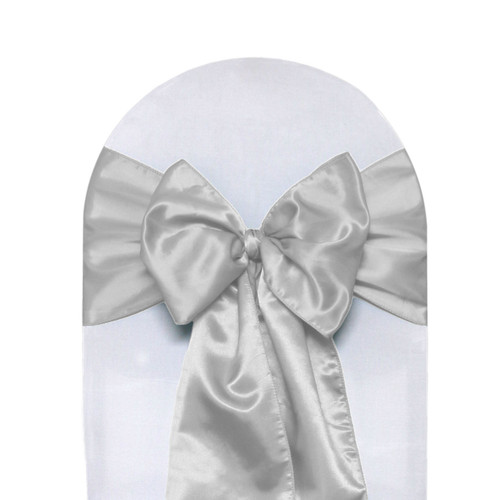 Satin Sashes Silver (Pack of 10)