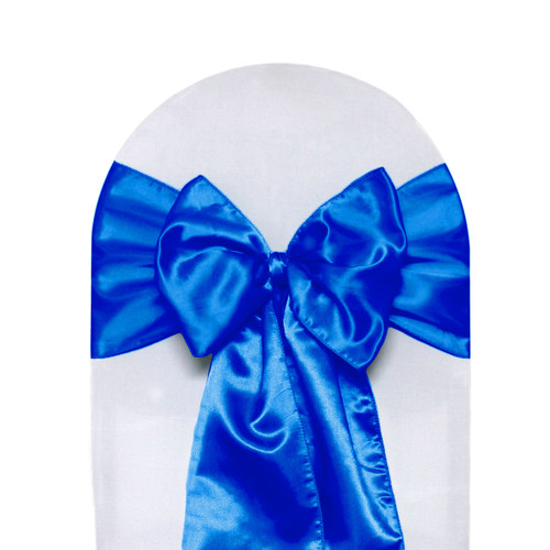 Satin Sashes Royal Blue Pack Of 10 Your Chair Covers Inc