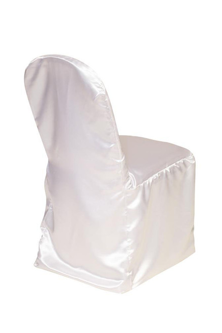 Satin Banquet Chair Covers White
