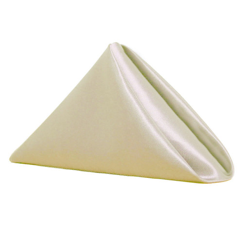 20 inch Satin Cloth Napkins Ivory (Pack of 10)