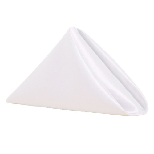 20 inch Satin Cloth Napkins White (Pack of 10)