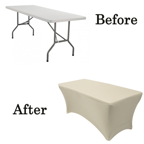 ivory lifetime folding table covers
