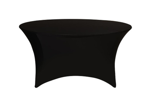 Stretch Spandex 6 ft Round Table Cover Black