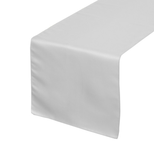14 x 108 inch L'amour Satin Table Runner White