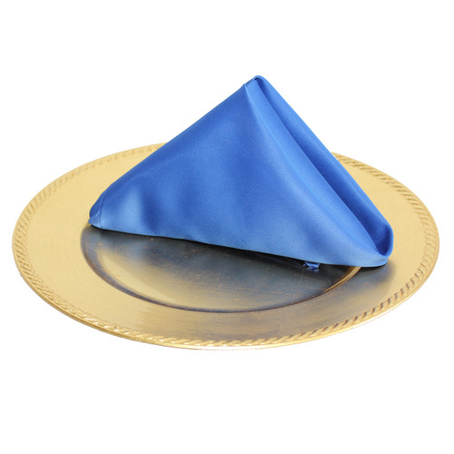 20 inch L'amour Satin Napkins Royal Blue (Pack of 10) (CLEARANCE)