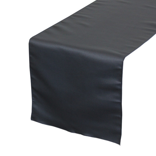14 x 108 inch L'amour Satin Table Runner Navy Blue
