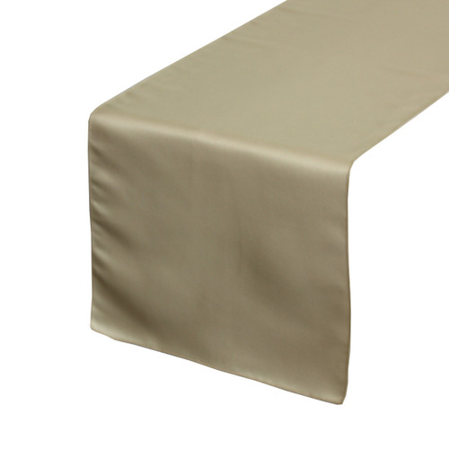 14 x 108 inch L'amour Satin Table Runner Champagne
