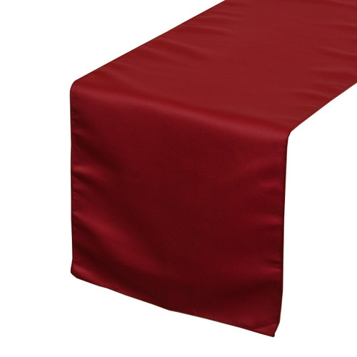 14 x 108 inch L'amour Satin Table Runner Dark Red