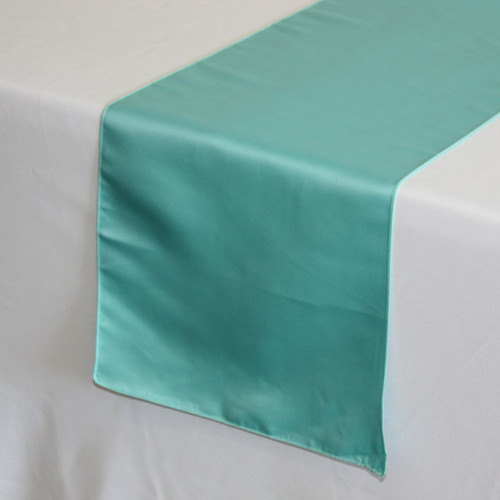 Superbe ... 14 X 108 Inch Lu0027amour Satin Table Runners Turquoise