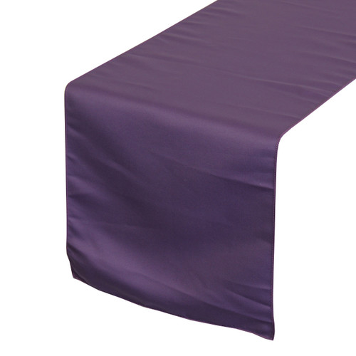 14 x 108 inch L'amour Satin Table Runner Purple