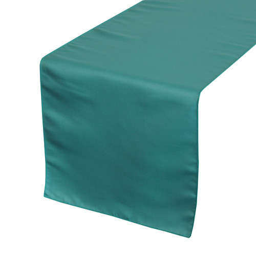 14 x 108 inch L'amour Satin Table Runner Teal
