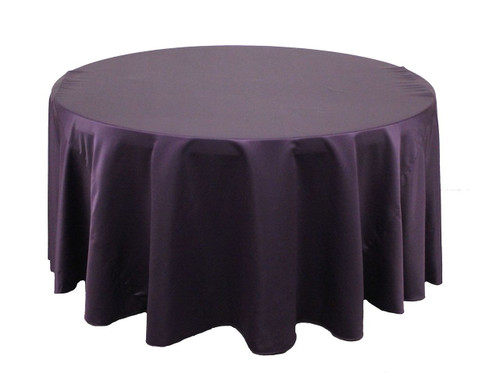 120 Inch Round L'amour Tablecloth Eggplant (CLEARANCE)