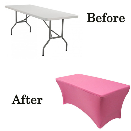 fuchsia lifetime folding table covers