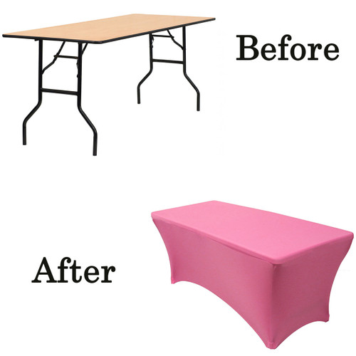 fuchsia wood folding table covers