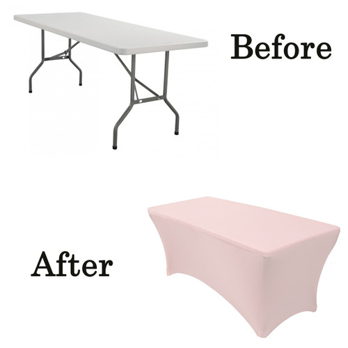 blush lifetime folding table covers