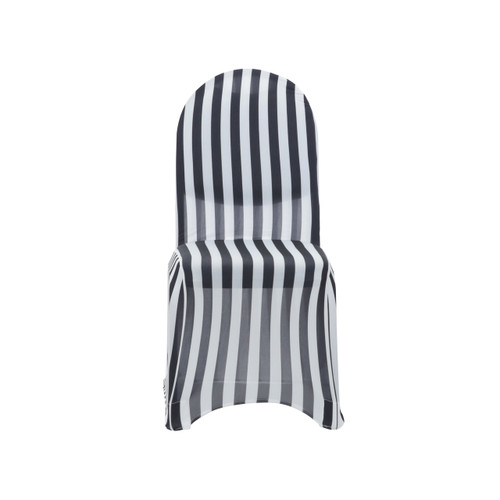 Stretch Spandex Banquet Chair Cover Black And White
