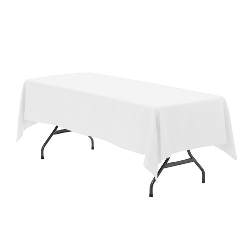 60 x 126 inch Rectangular Polyester Tablecloth White