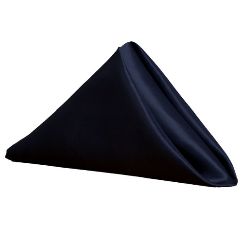 20 inch Satin Cloth Napkins Navy Blue (Pack of 10)