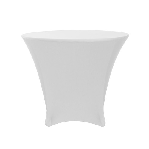 36 x 30 inch Lowboy Cocktail Round Stretch Spandex Table Covers White