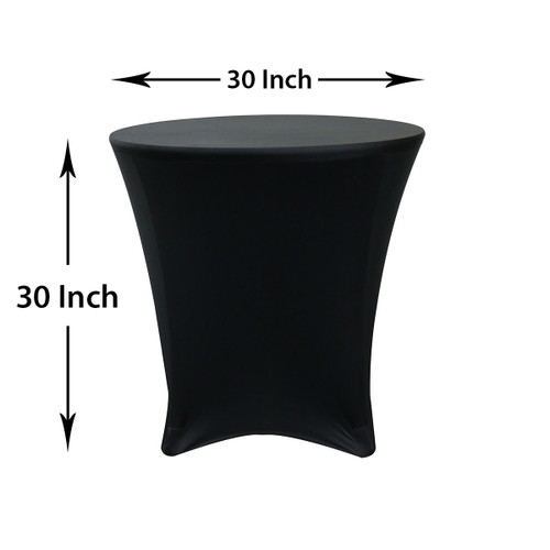 measurements of spandex cocktail lowboy black