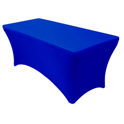 Stretch Spandex 6 Ft Rectangular Table Cover Royal Blue