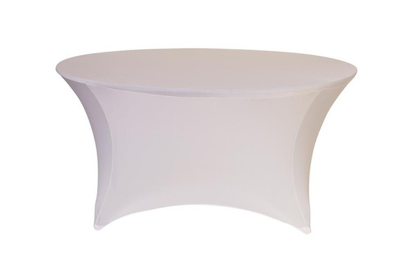 Stretch Spandex 5 ft Round Table Covers White