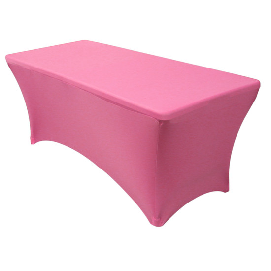 Stretch Spandex 6 Ft Rectangular Table Cover Fuchsia