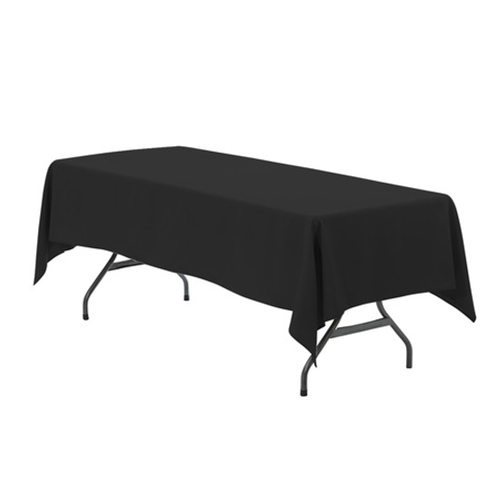 60 x 126 inch Rectangular Polyester Tablecloths Black