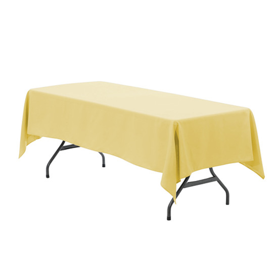 60 x 126 inch Rectangular Polyester Tablecloth Pastel Yellow