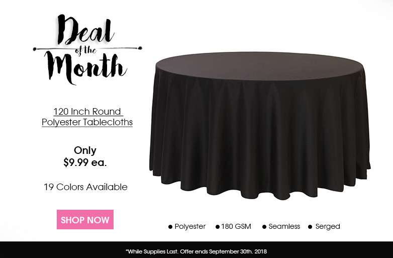 120 inch Round Polyester Tablecloths