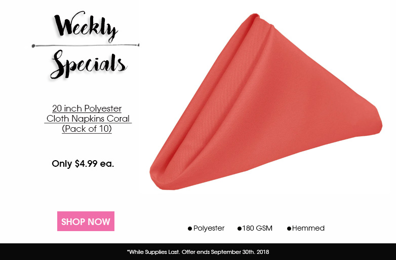 Polyester Napkins Coral