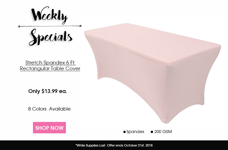 Spandex 6 ft. Table Cover
