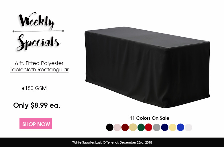 Polyester 6 ft. fitted Tablecloths