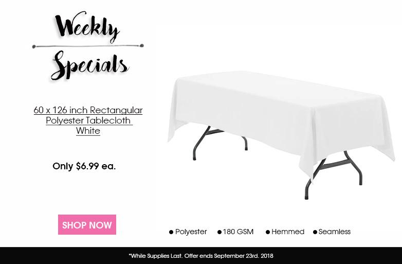 60 x 126 Polyester Rectangular Tablecloth