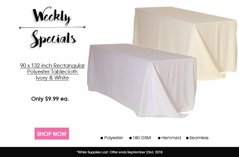 90 x 132 Inch Round Polyester Tablecloths