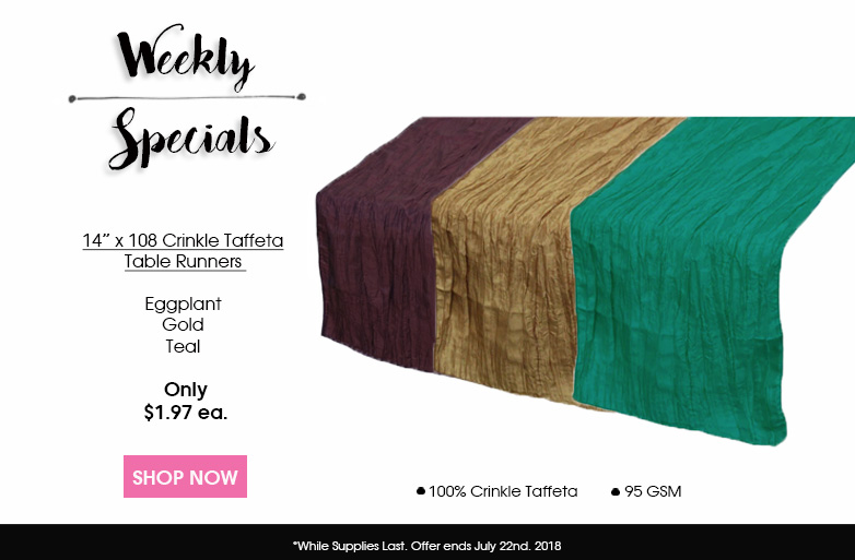 Crinkle Taffeta Table Runners