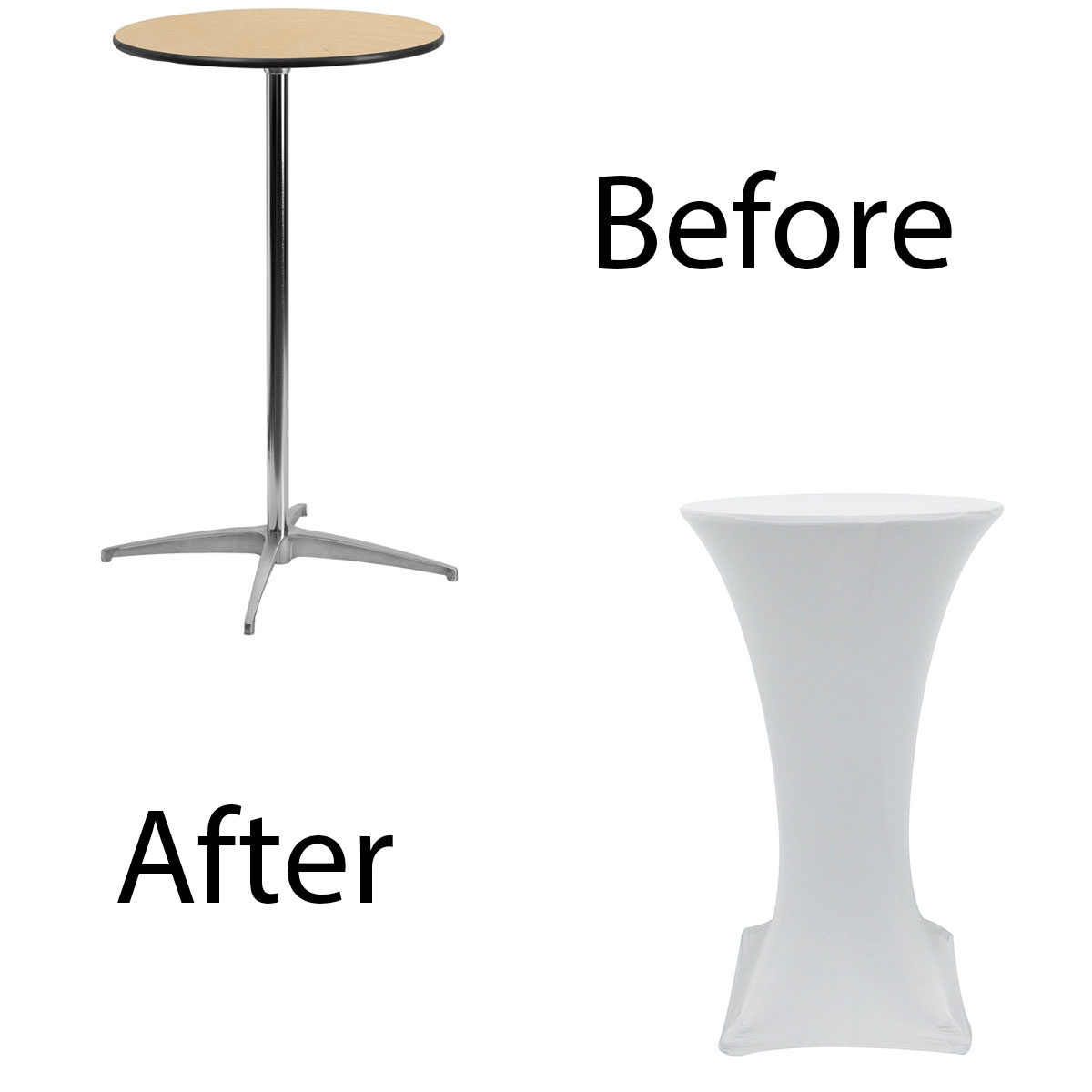 24-inch-highboy-cocktail-spandex-table-covers-white-before-after.jpg