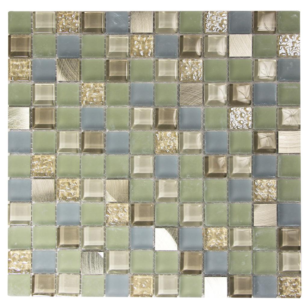Coeus Majestic Green Mosaic Glass Tile