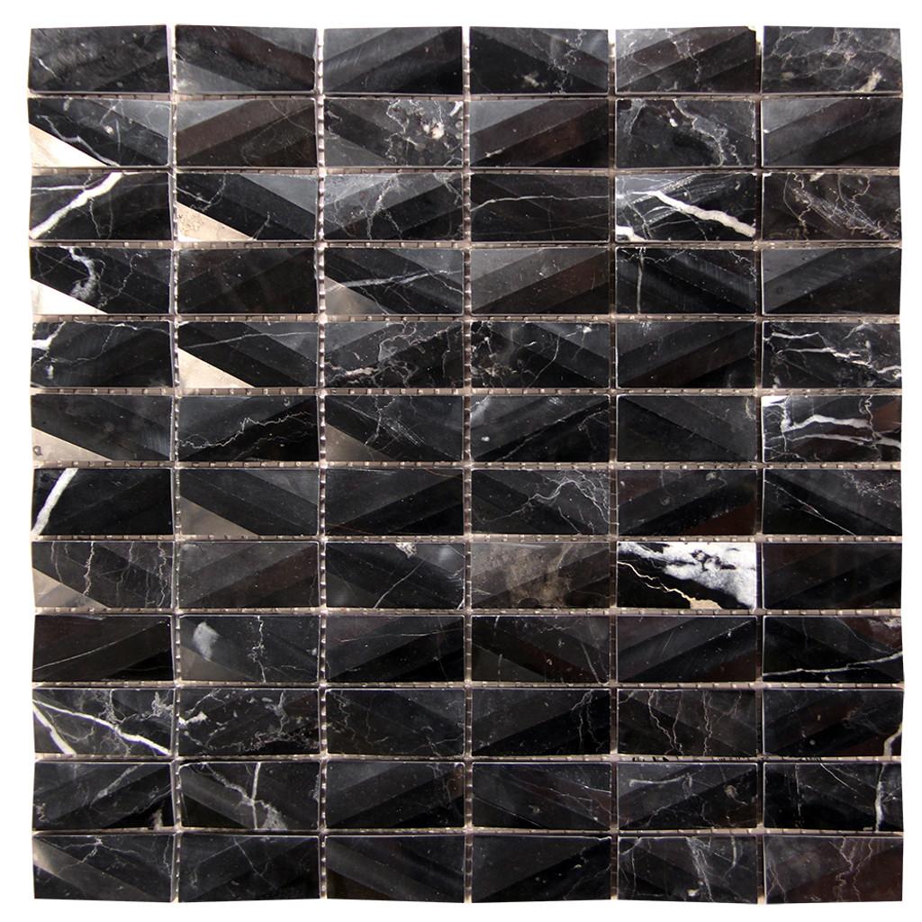 Diamond Marquina Black Marble Tile
