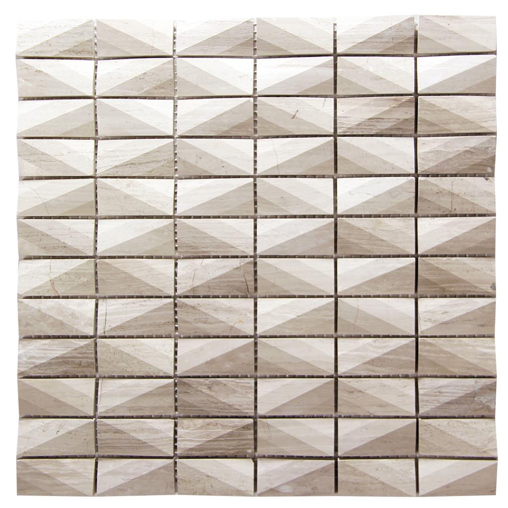 Diamond White Wood Marble Tile