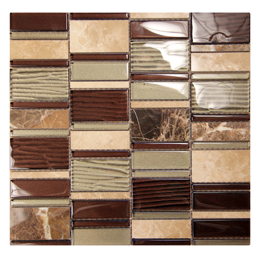 Loft Emperador Mosaic Glass Tile